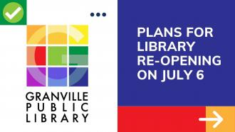 Library Plans for In-Person Business beginning Monday, July 6